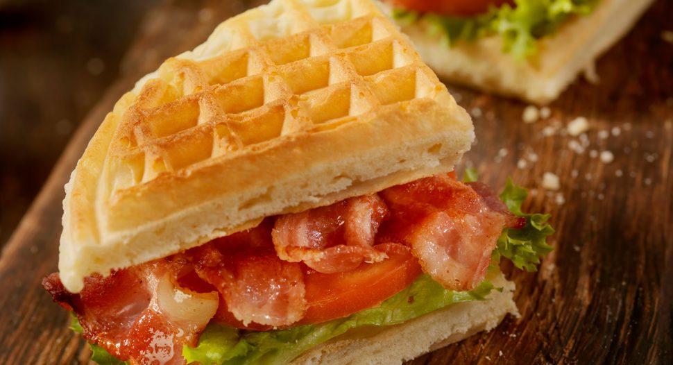 Easy BLT Waffle Sandwich recipe in 15 mins