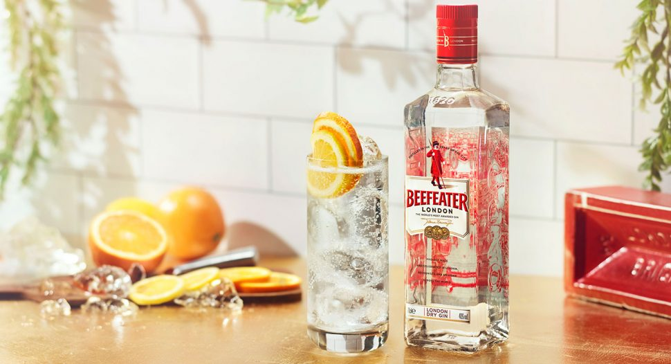 Beefeater Gin with Schweppes Manao Lime
