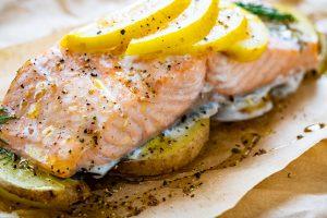 Easy Garlic Lemon Butter Salmon recipe