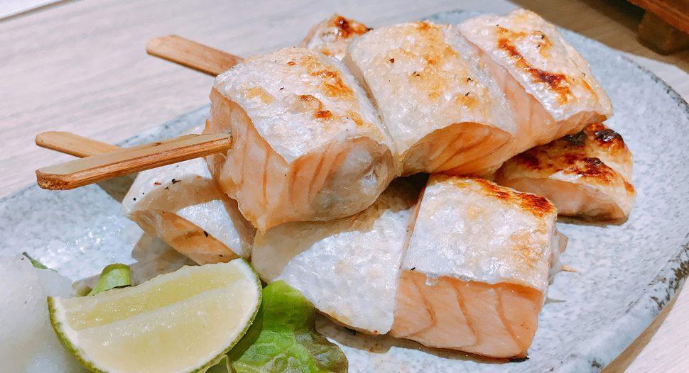 Salmon Belly Skewers recipe