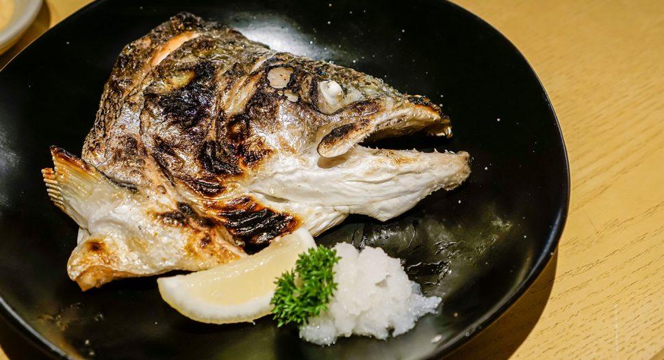 Salt Grilled Salmon Head & Collar