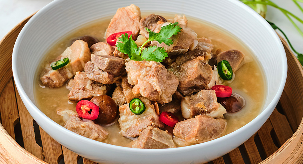 Steamed Pork Ribs with Salted Plum