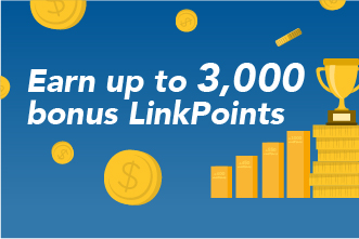 Scan & Go: Earn up to 3,000 bonus LinkPoints