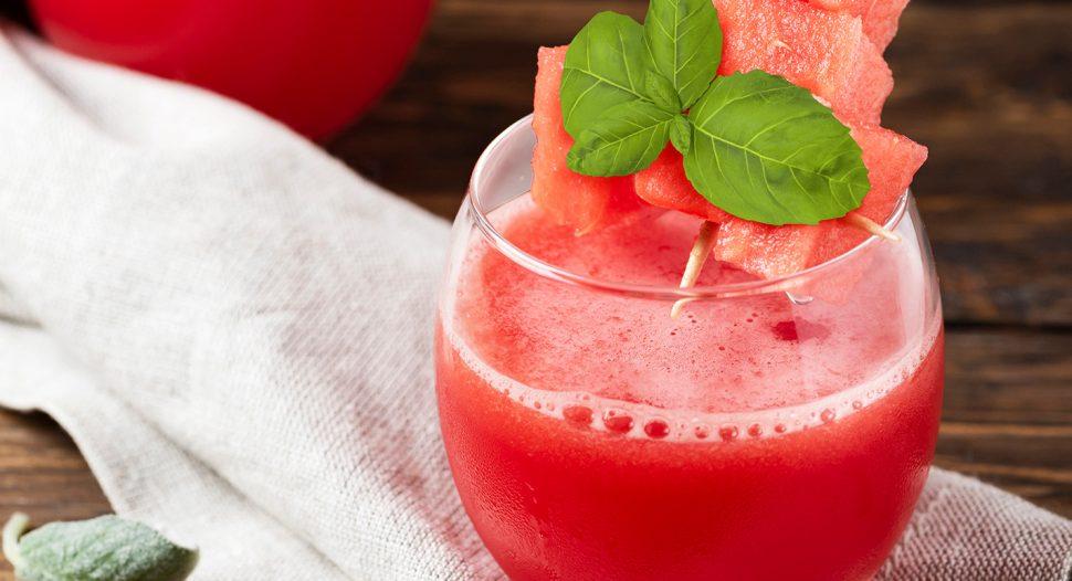 Basil Watermelon Slushie - refreshing drink with a taste of Thailand
