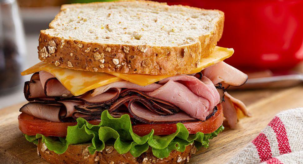 All time favourite - Easy Ham & Cheese Sandwich recipe