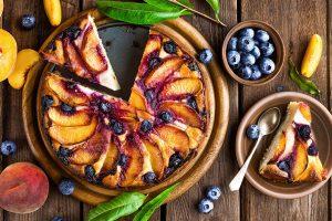 Peach & Blueberry Cheesecake recipe