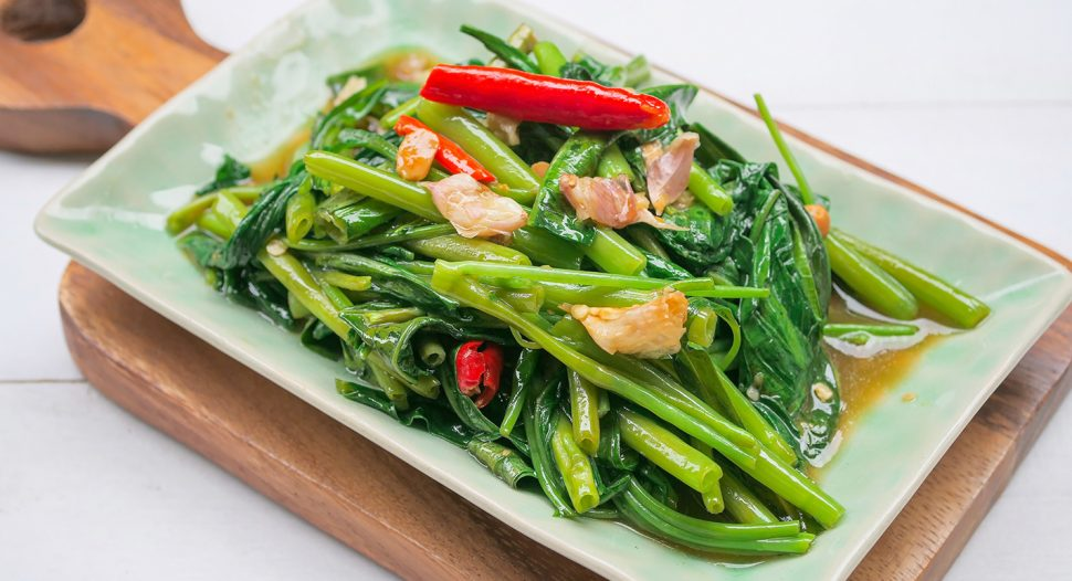 Stir Fry KangKong Recipe - a classic from Thailand that's loved by everyone