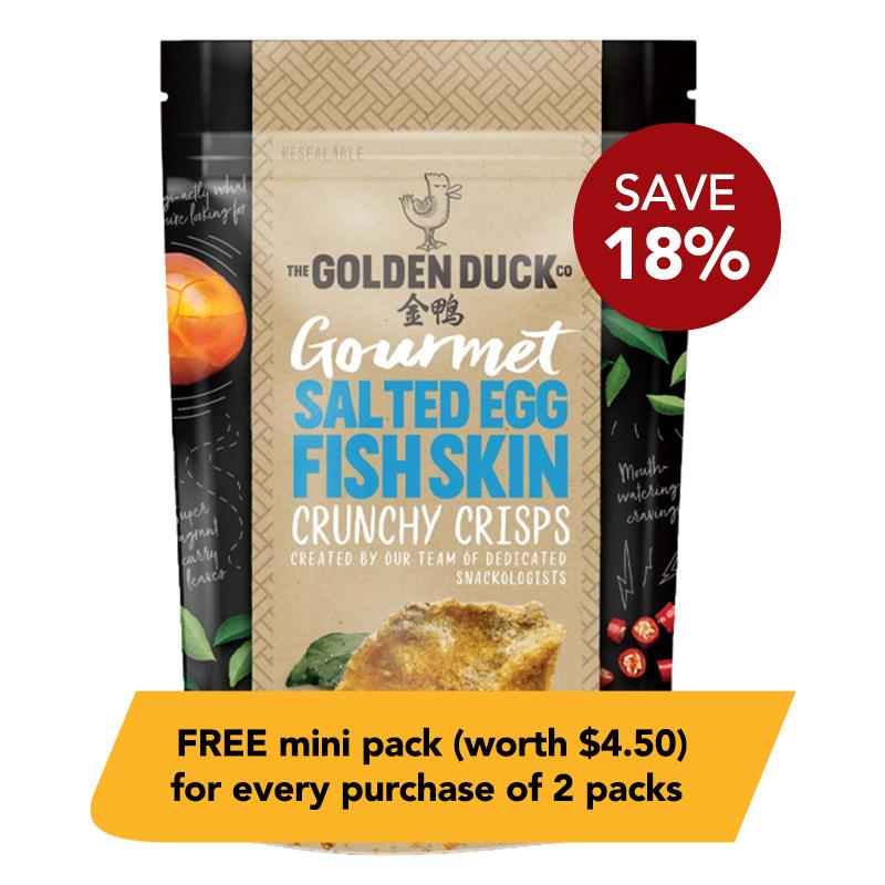 The Golden Duck Salted Egg Yolk Fish Skin Crisps
