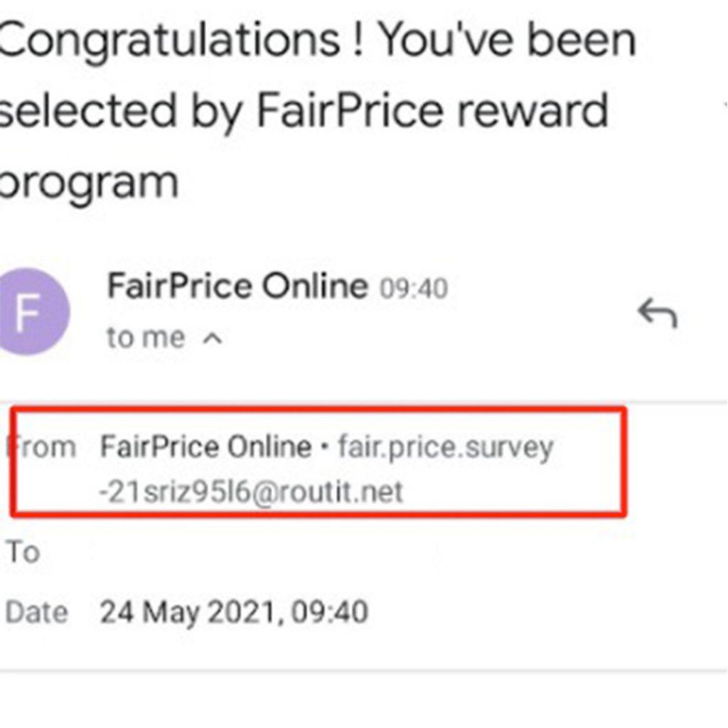 FairPrice Scam Alert