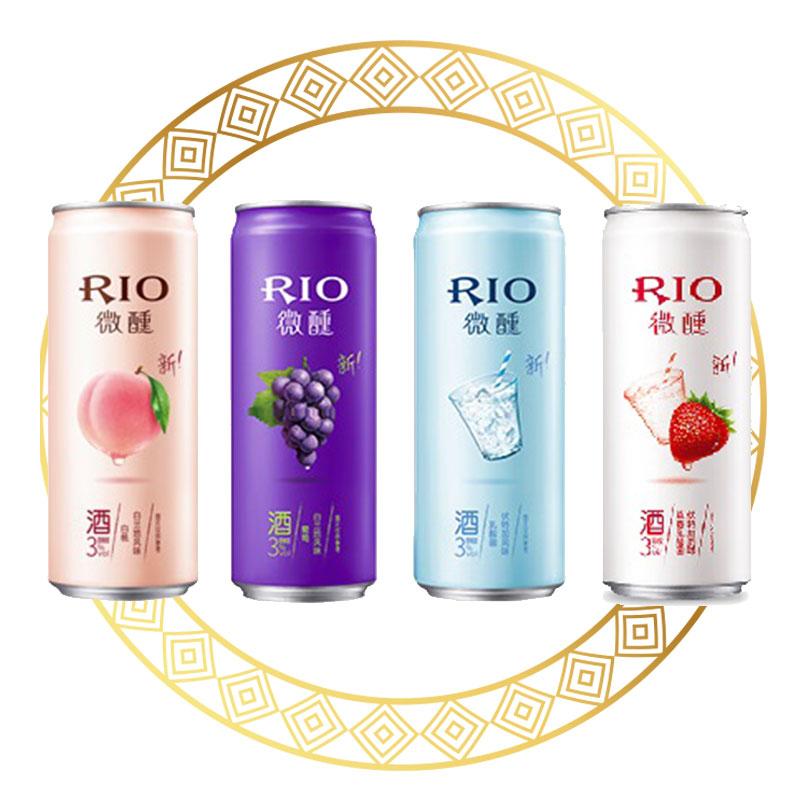 RIO Cocktail 3% Alc Strawberry Yoghurt / Yoghurt / Grape / Peach
