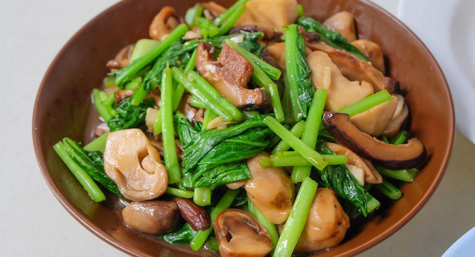 Stir Fry Chye Sim with Mushroom Easy Recipe