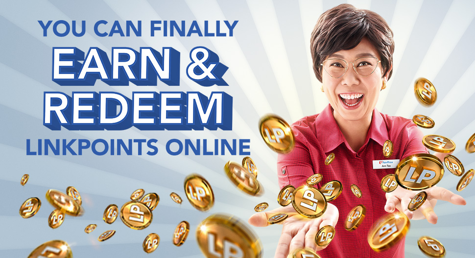 Shop on online on FairPrice and earn LinkPoints