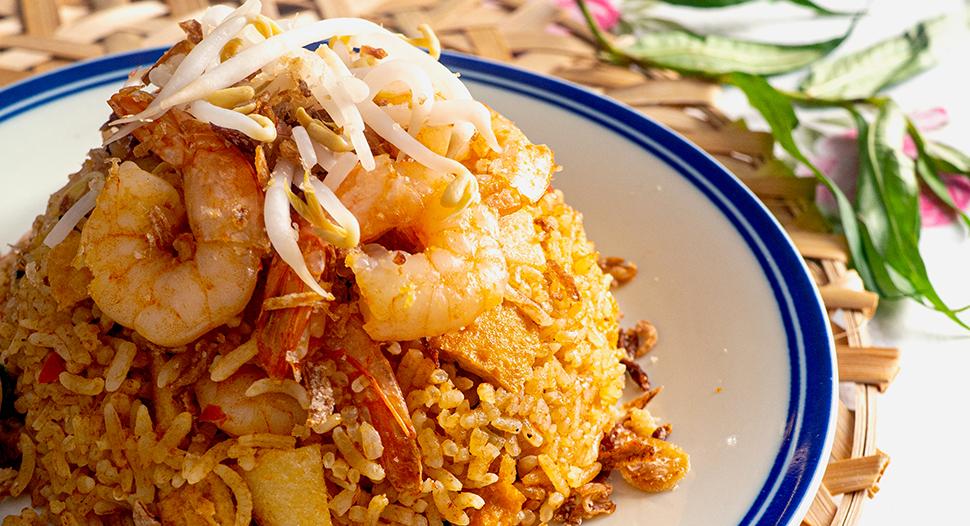 rice cooker laksa fried rice