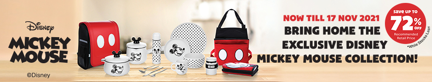 Exclusive Disney Mickey Mouse Collection for FairPrice Loyalty Programme
