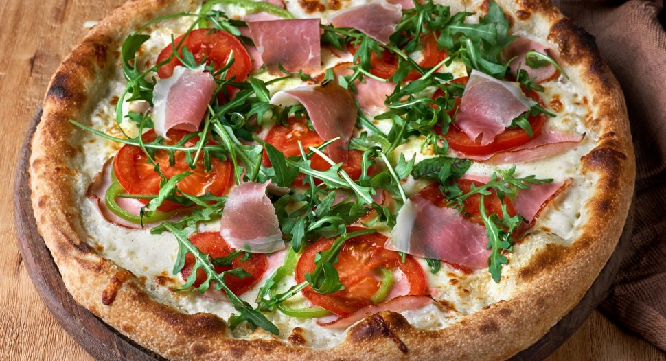 Pizza with Fresh Vegetables recipe