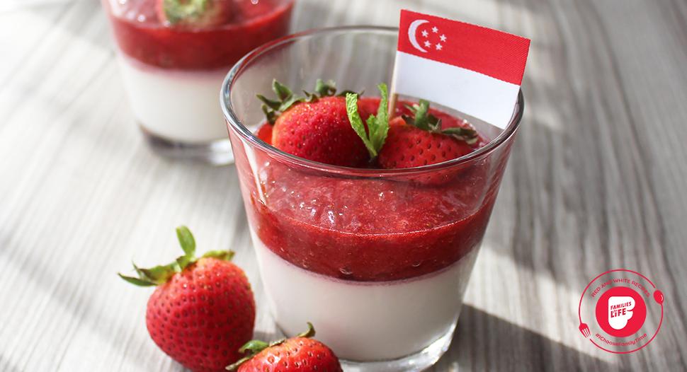 Delicious Strawberry Panna Cotta recipe by Mr Derek Cheong, Winner of MasterChef 2021