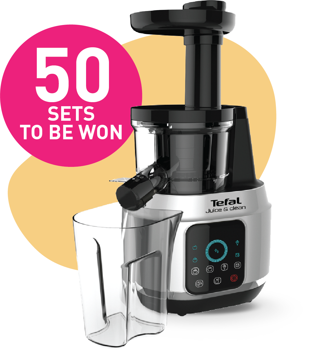 Win Tefal Juice and Clean Slow Juicer with LIFE
