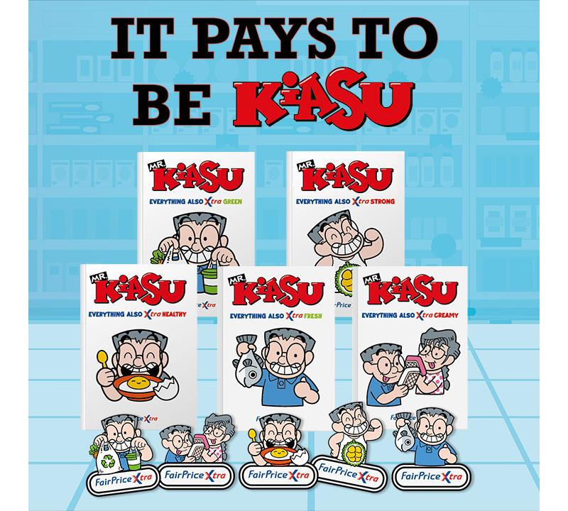 Mr Kiasu Gift with Purchase - FairPrice Xtra with Mr Kiasu - Xtra Value Xtra Variety