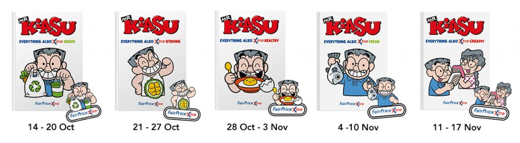 FairPrice Xtra and Mr Kiasu free weekly booklet and iron-on badge!