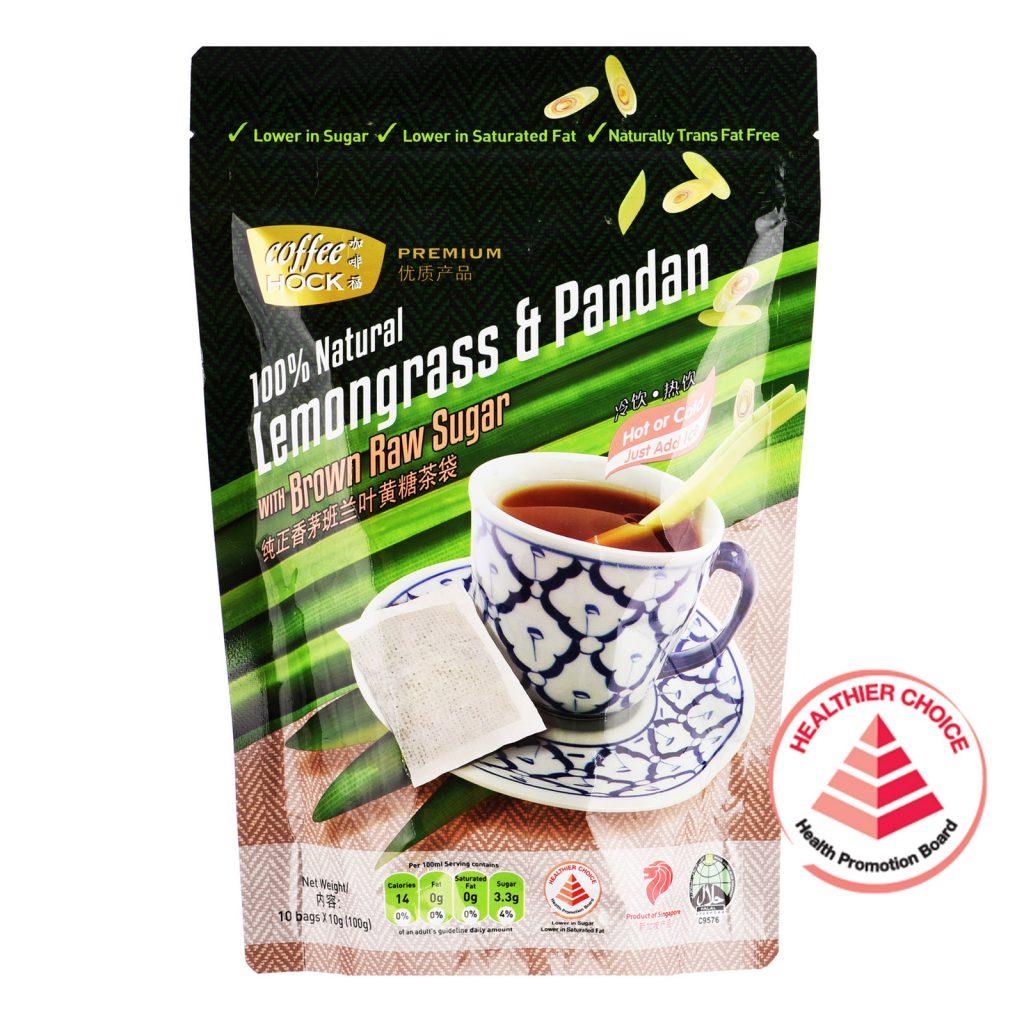 COFFEE HOCK Lemongrass & Pandan With Brown Raw Sugar